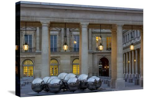 Twilight in the Courtyard of Palais Royal, Paris, France-Brian Jannsen-Stretched Canvas Print