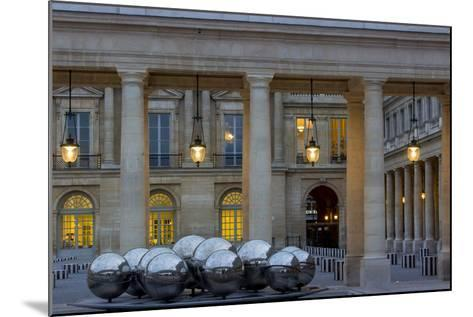Twilight in the Courtyard of Palais Royal, Paris, France-Brian Jannsen-Mounted Photographic Print
