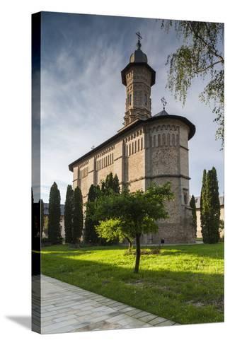 Romania, Bucovina, Mitocul Dragomirnei, Orthodox Dragomirna Monastery-Walter Bibikow-Stretched Canvas Print
