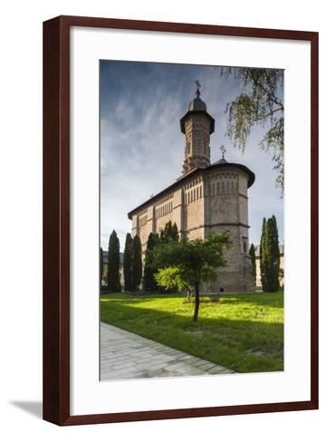 Romania, Bucovina, Mitocul Dragomirnei, Orthodox Dragomirna Monastery-Walter Bibikow-Framed Art Print