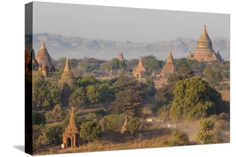 View of the Pagodas and Temples of the Ancient City of Bagan, Myanmar-Peter Adams-Stretched Canvas Print