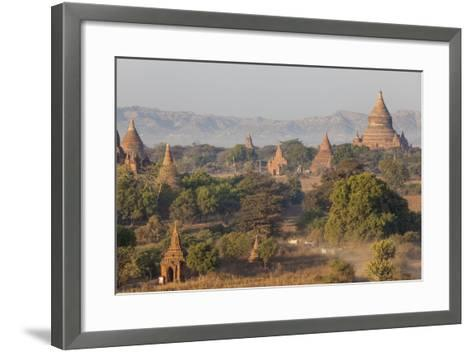View of the Pagodas and Temples of the Ancient City of Bagan, Myanmar-Peter Adams-Framed Art Print