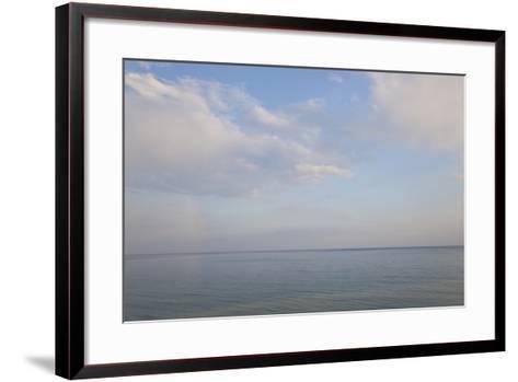 Sea and Skyscape, Rhodes, Greece-Peter Adams-Framed Art Print
