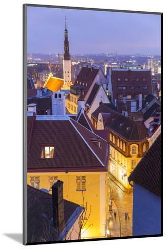 View of Old Town at Dusk, from Toompea, Tallinn, Estonia-Peter Adams-Mounted Photographic Print
