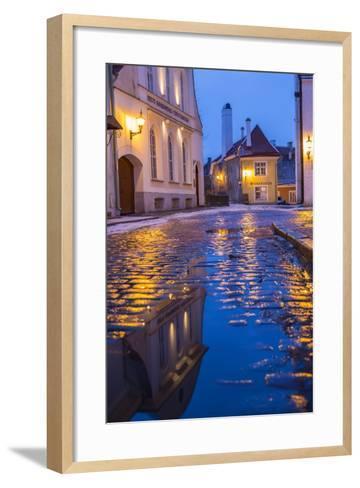 Reflections, Old Town, Tallinn, Estonia-Peter Adams-Framed Art Print