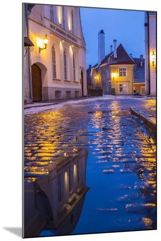 Reflections, Old Town, Tallinn, Estonia-Peter Adams-Mounted Photographic Print