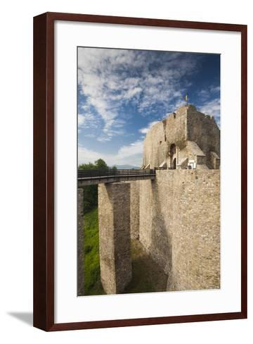 Romania, Moldavia, Targu Neamt, Neamt Citadel, 14th Century, Exterior-Walter Bibikow-Framed Art Print