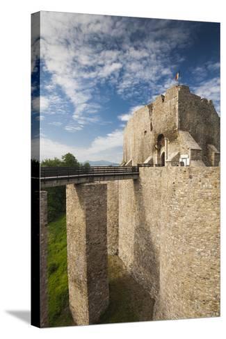 Romania, Moldavia, Targu Neamt, Neamt Citadel, 14th Century, Exterior-Walter Bibikow-Stretched Canvas Print