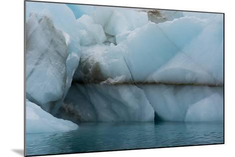 Norway. Svalbard. Brasvelbreen. Turquoise Ice Bergs in the Calm Water-Inger Hogstrom-Mounted Photographic Print