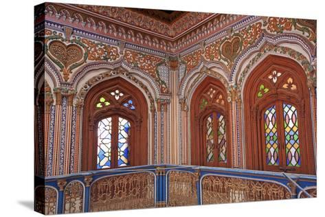 The Beautiful Woodwork in Chiniot Palace in Pakistan-Yasir Nisar-Stretched Canvas Print