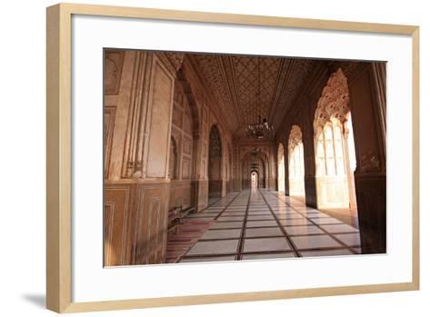 View from the Arch of Badshahi Masjid, Lahore, Pakistan-Yasir Nisar-Framed Art Print