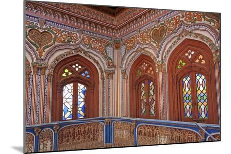 The Beautiful Woodwork in Chiniot Palace in Pakistan-Yasir Nisar-Mounted Photographic Print