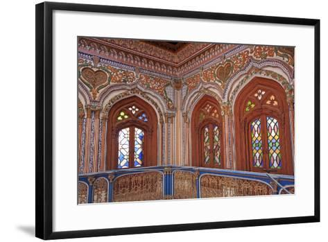 The Beautiful Woodwork in Chiniot Palace in Pakistan-Yasir Nisar-Framed Art Print