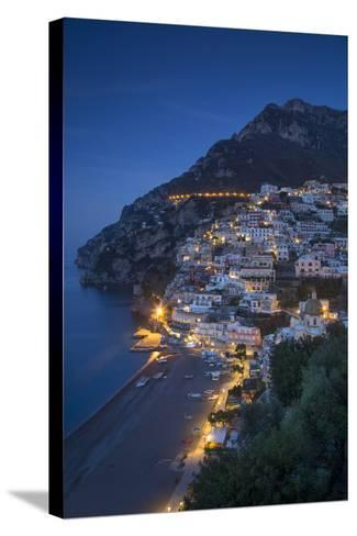 The Amalfi Coast of the Hillside Town of Positano, Campania, Italy-Brian Jannsen-Stretched Canvas Print