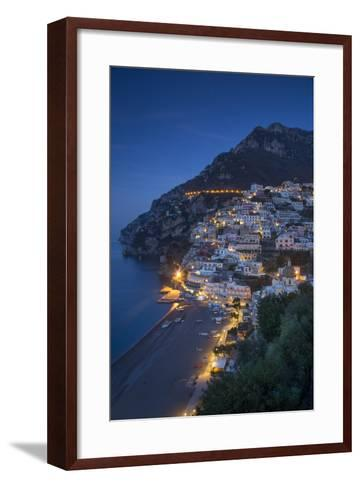 The Amalfi Coast of the Hillside Town of Positano, Campania, Italy-Brian Jannsen-Framed Art Print