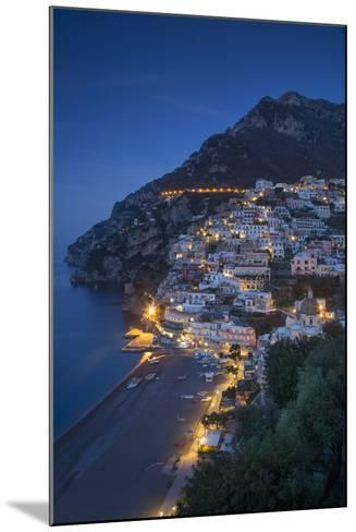 The Amalfi Coast of the Hillside Town of Positano, Campania, Italy-Brian Jannsen-Mounted Photographic Print