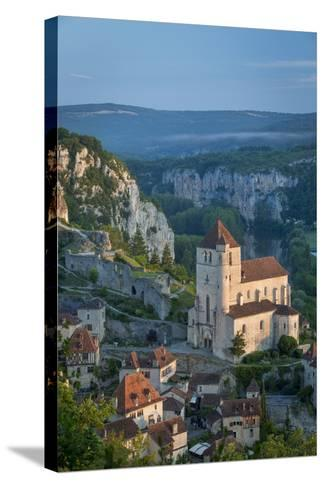 Morning over Saint-Cirq-Lapopie, Lot Valley, Midi-Pyrenees, France-Brian Jannsen-Stretched Canvas Print