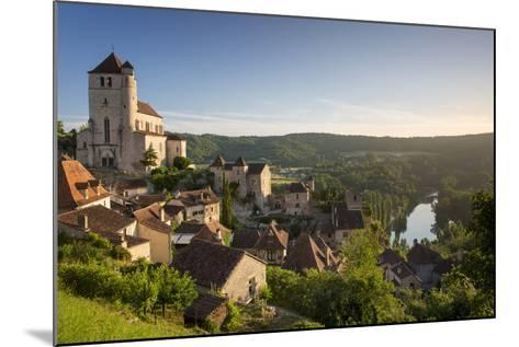 Morning over Saint-Cirq-Lapopie, Lot Valley, Midi-Pyrenees, France-Brian Jannsen-Mounted Photographic Print