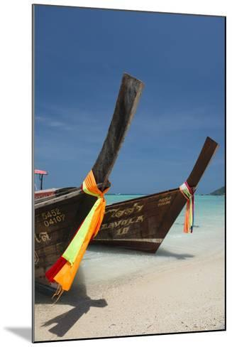 Thailand, Phuket, Island of Phi Phi Don. Traditional Longboat-Cindy Miller Hopkins-Mounted Photographic Print