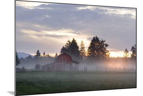 Canada, B.C., Vancouver Island. Barn on a Farm in the Cowichan Valley-Kevin Oke-Mounted Photographic Print