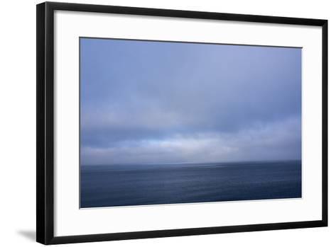 Norway. Svalbard. Nordaustlandet Island. Calm Water and Cloudy Skies-Inger Hogstrom-Framed Art Print