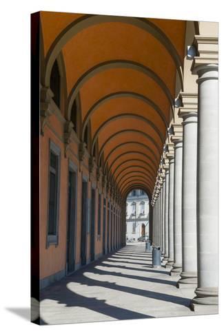 Arcade at Piazza Della Liberta', Firenze, UNESCO, Tuscany, Italy-Nico Tondini-Stretched Canvas Print