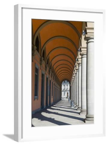 Arcade at Piazza Della Liberta', Firenze, UNESCO, Tuscany, Italy-Nico Tondini-Framed Art Print