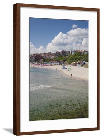 Bulgaria, Black Sea Coast, Sozopol, Town Beach-Walter Bibikow-Framed Art Print