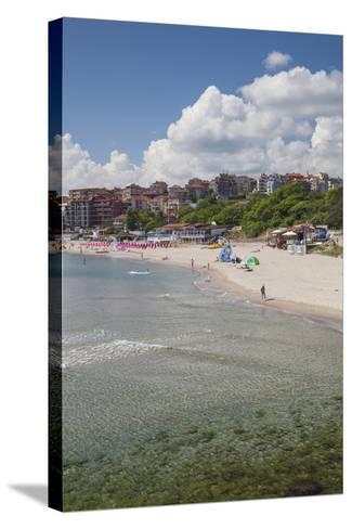 Bulgaria, Black Sea Coast, Sozopol, Town Beach-Walter Bibikow-Stretched Canvas Print