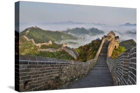 Great Wall of China on a Foggy Morning. Jinshanling, China-Darrell Gulin-Stretched Canvas Print