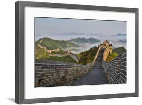 Great Wall of China on a Foggy Morning. Jinshanling, China-Darrell Gulin-Framed Art Print