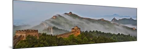 Great Wall of China on a Foggy Morning. Jinshanling, China-Darrell Gulin-Mounted Photographic Print