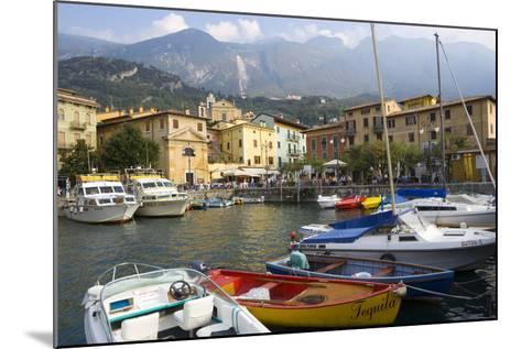 Malcesine, Harbor, Lake Garda, Lombardy, Italy-Peter Adams-Mounted Photographic Print