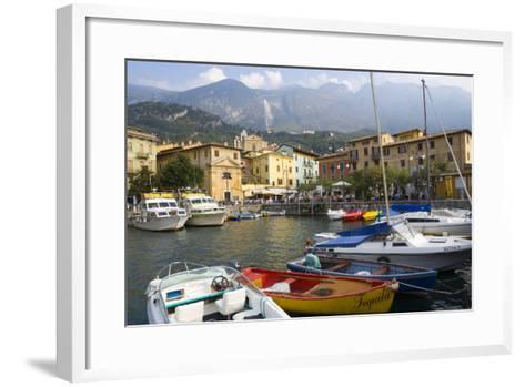 Malcesine, Harbor, Lake Garda, Lombardy, Italy-Peter Adams-Framed Art Print