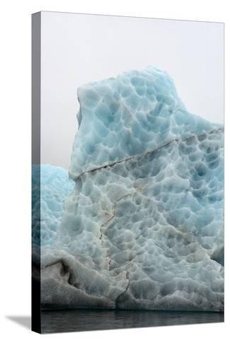 Norway. Svalbard. Spitsbergen. Hornsund. Brepollen. Icebergs Patterns-Inger Hogstrom-Stretched Canvas Print
