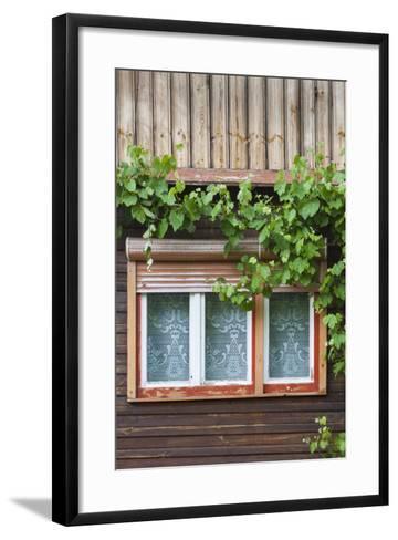 Romania, Transylvania, Sibiel, Window Detail-Walter Bibikow-Framed Art Print