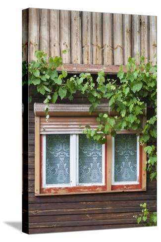 Romania, Transylvania, Sibiel, Window Detail-Walter Bibikow-Stretched Canvas Print