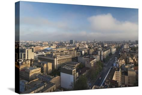 Romania, Bucharest, Central Bucharest, Nicolae Balcescu Boulevard-Walter Bibikow-Stretched Canvas Print