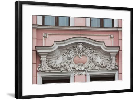 Romania, Transylvania, Brasov, Romanian National Bank Building-Walter Bibikow-Framed Art Print