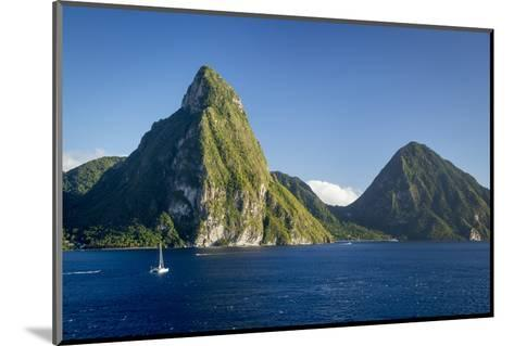 Petite Piton Near Soufriere, St. Lucia, West Indies-Brian Jannsen-Mounted Photographic Print