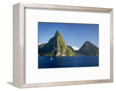 Petite Piton Near Soufriere, St. Lucia, West Indies-Brian Jannsen-Framed Art Print