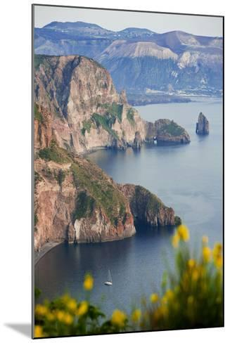 View of Volcano Island from Quattrocchi, Lipari Island, Sicily, Italy-Peter Adams-Mounted Photographic Print