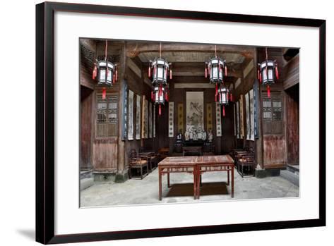 Hongcun Village, Interior of Home, UNESCO World Heritage Site-Darrell Gulin-Framed Art Print