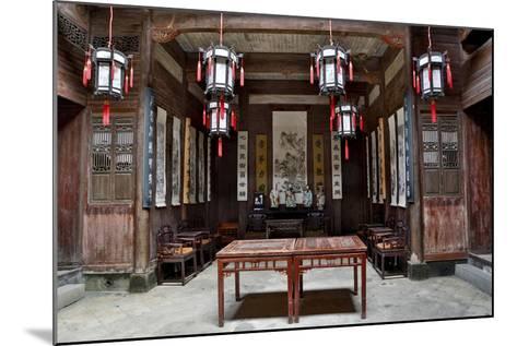 Hongcun Village, Interior of Home, UNESCO World Heritage Site-Darrell Gulin-Mounted Photographic Print