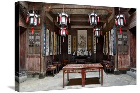 Hongcun Village, Interior of Home, UNESCO World Heritage Site-Darrell Gulin-Stretched Canvas Print