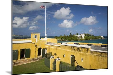 Flag at Fort Christiansvaern, St Croix, Us Virgin Islands, West Indies-Brian Jannsen-Mounted Photographic Print