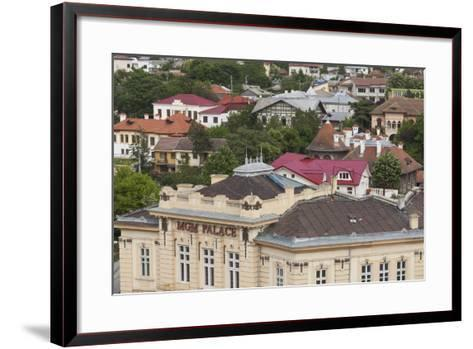 Romania, Danube River Delta, Tulcea, View with MGM Palace Club-Walter Bibikow-Framed Art Print