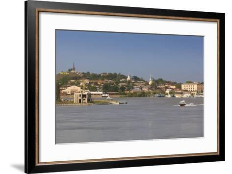 Romania, Danube River Delta, Tulcea, Danube River Waterfront-Walter Bibikow-Framed Art Print