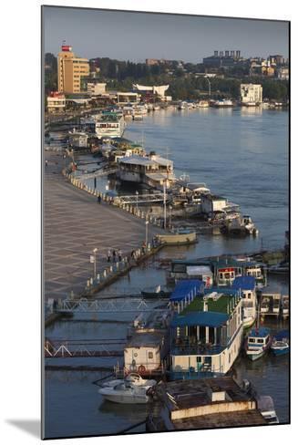 Romania, Tulcea, the Tulcea Port on the Danube River, Dawn-Walter Bibikow-Mounted Photographic Print