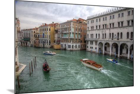 Boats Along the Grand Canal Venice, Italy-Darrell Gulin-Mounted Photographic Print